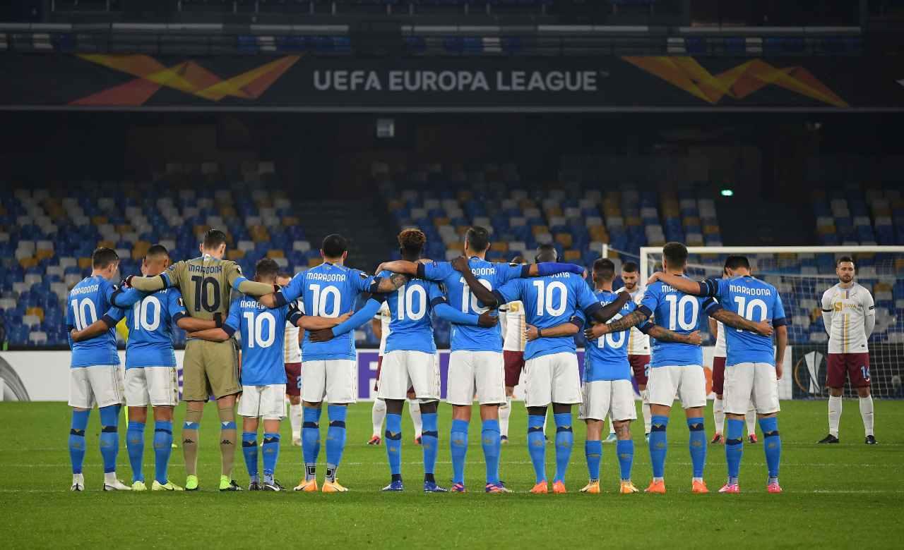 Napoli omaggio Maradona