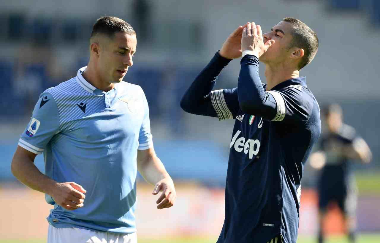 Lazio-Juventus cristiano ronaldo infortunio