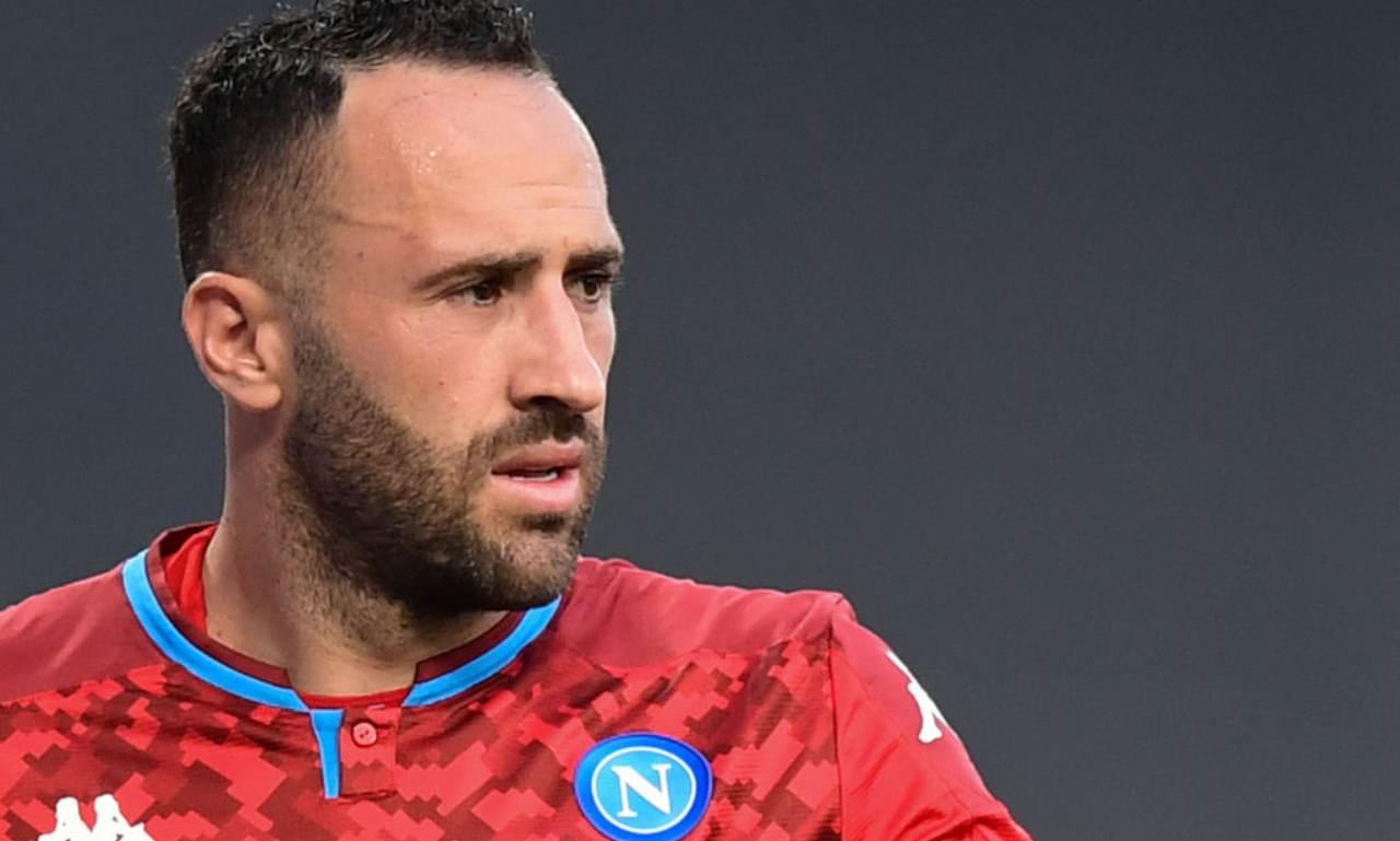Napoli infortunio Ospina