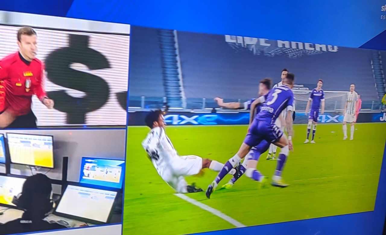 Juventus-Fiorentina espulsione Cuadrado