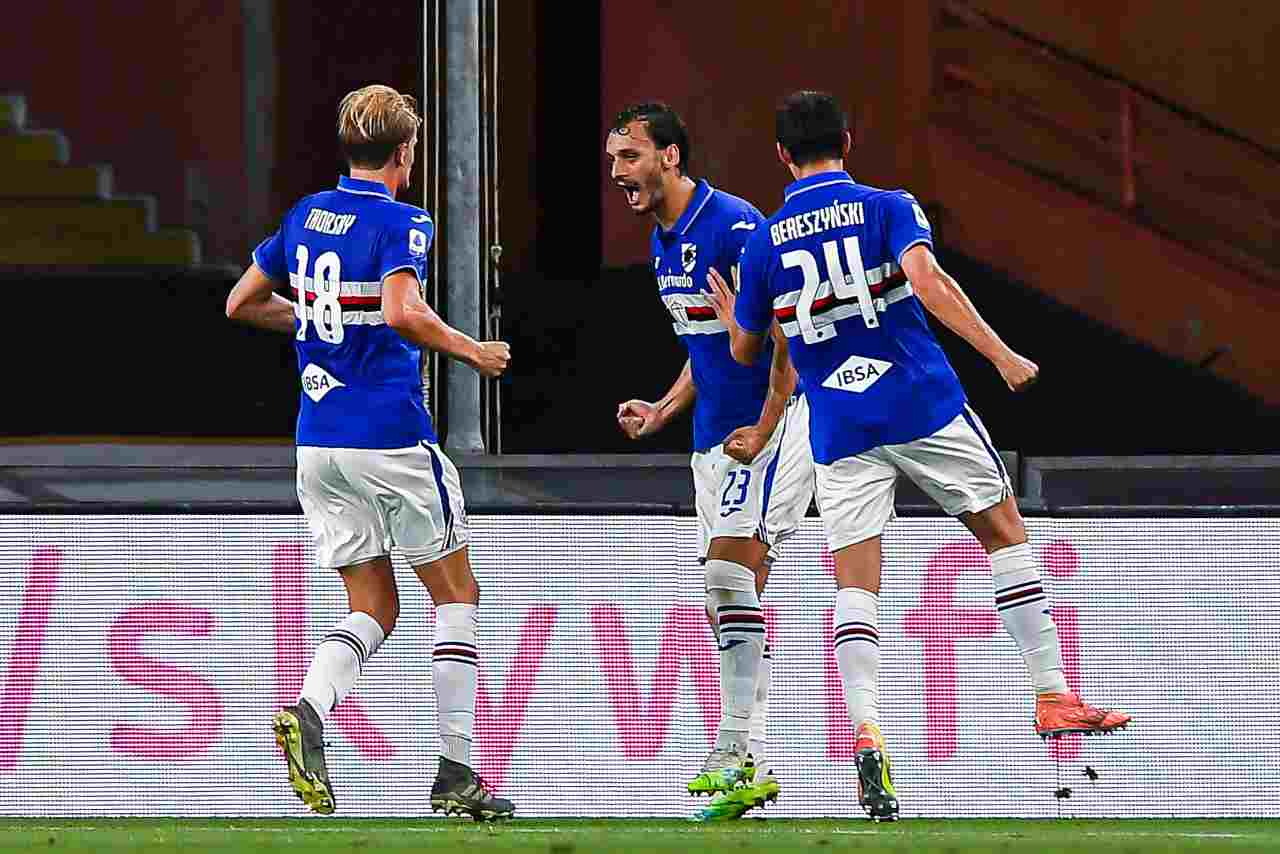 Sampdoria infortunio Gabbiadini