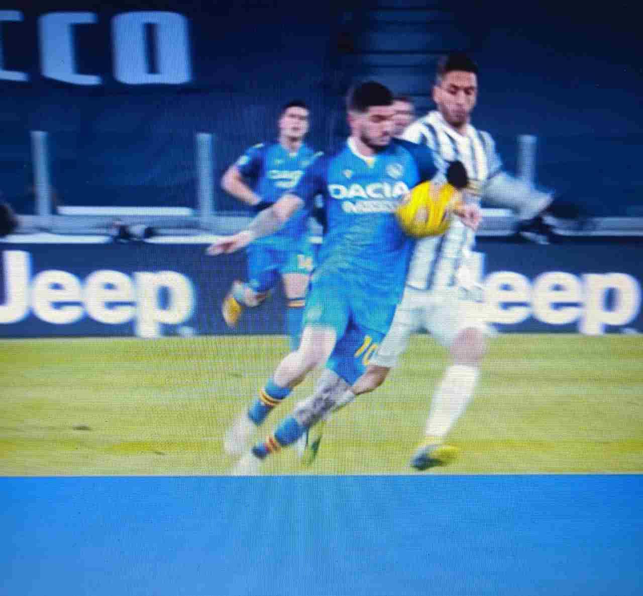 De Paul fallo di mano Juventus-Udinese