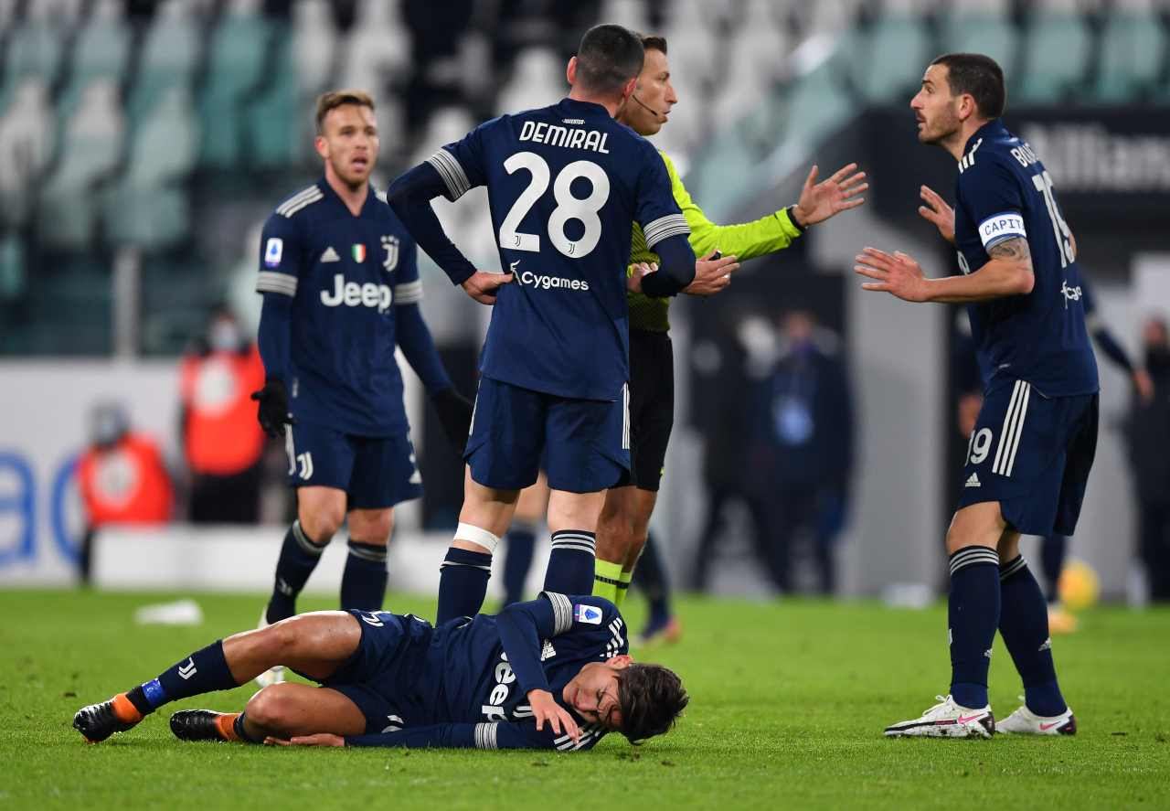 Ultime Juventus: infortunio Dybala