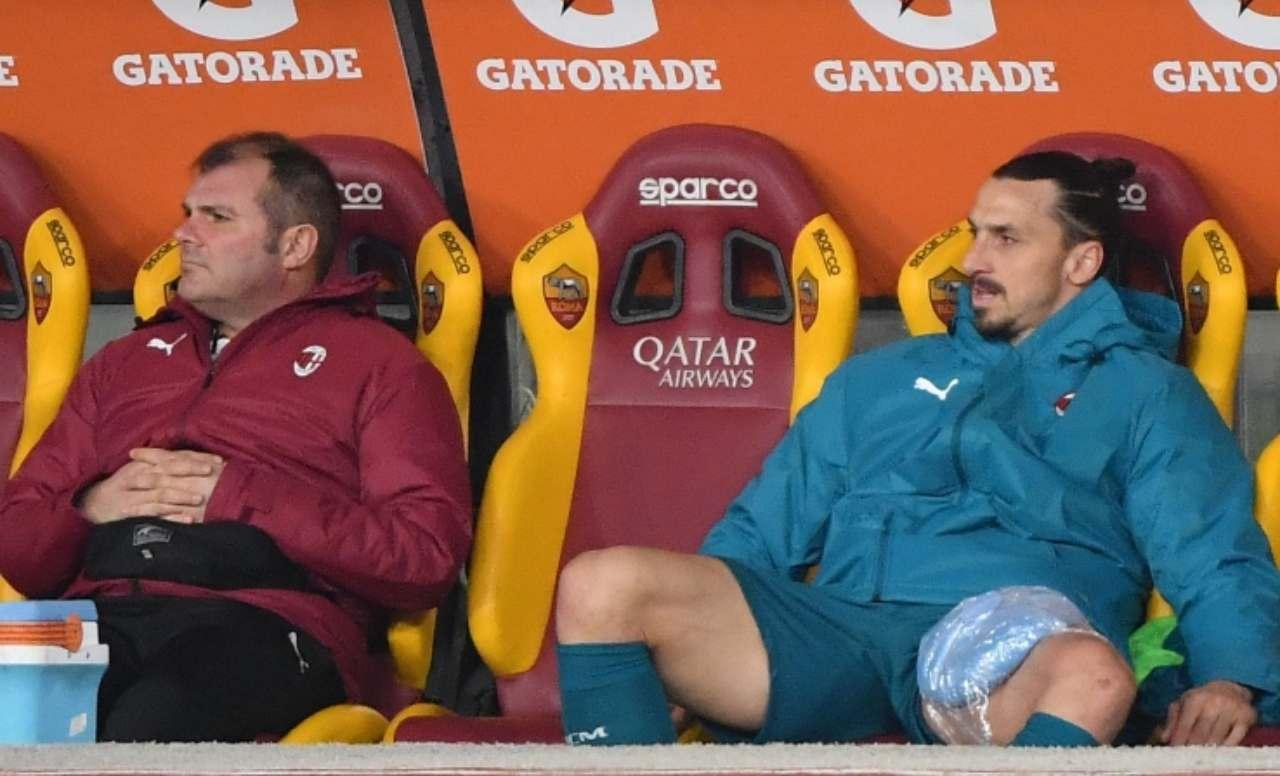 Milan, infortunio Ibrahimovic
