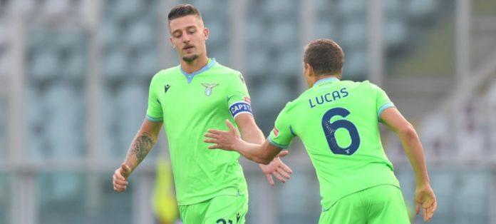 Milinkovic-Savic e Lucas Leiva