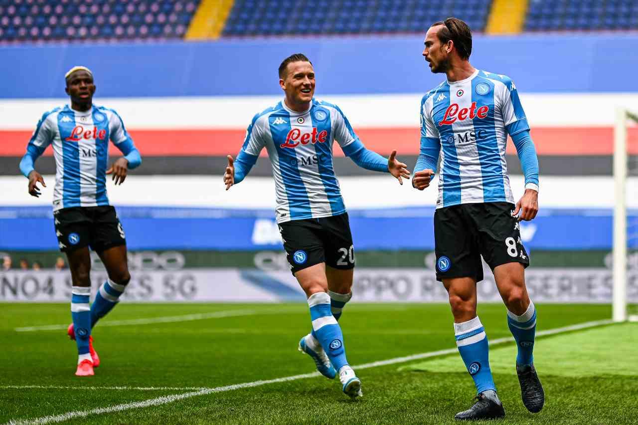 Napoli infortunio Zielinski