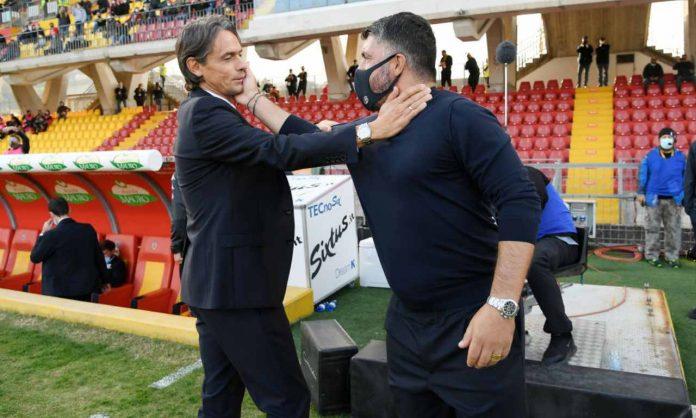 Gattuso e Inzaghi Juve