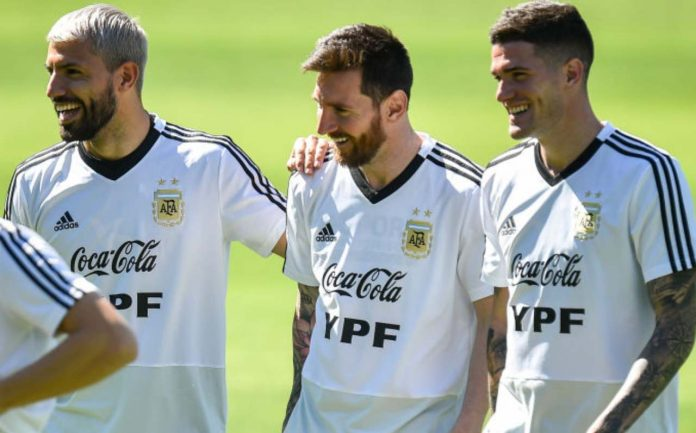 Aguero, Messi, De Paul