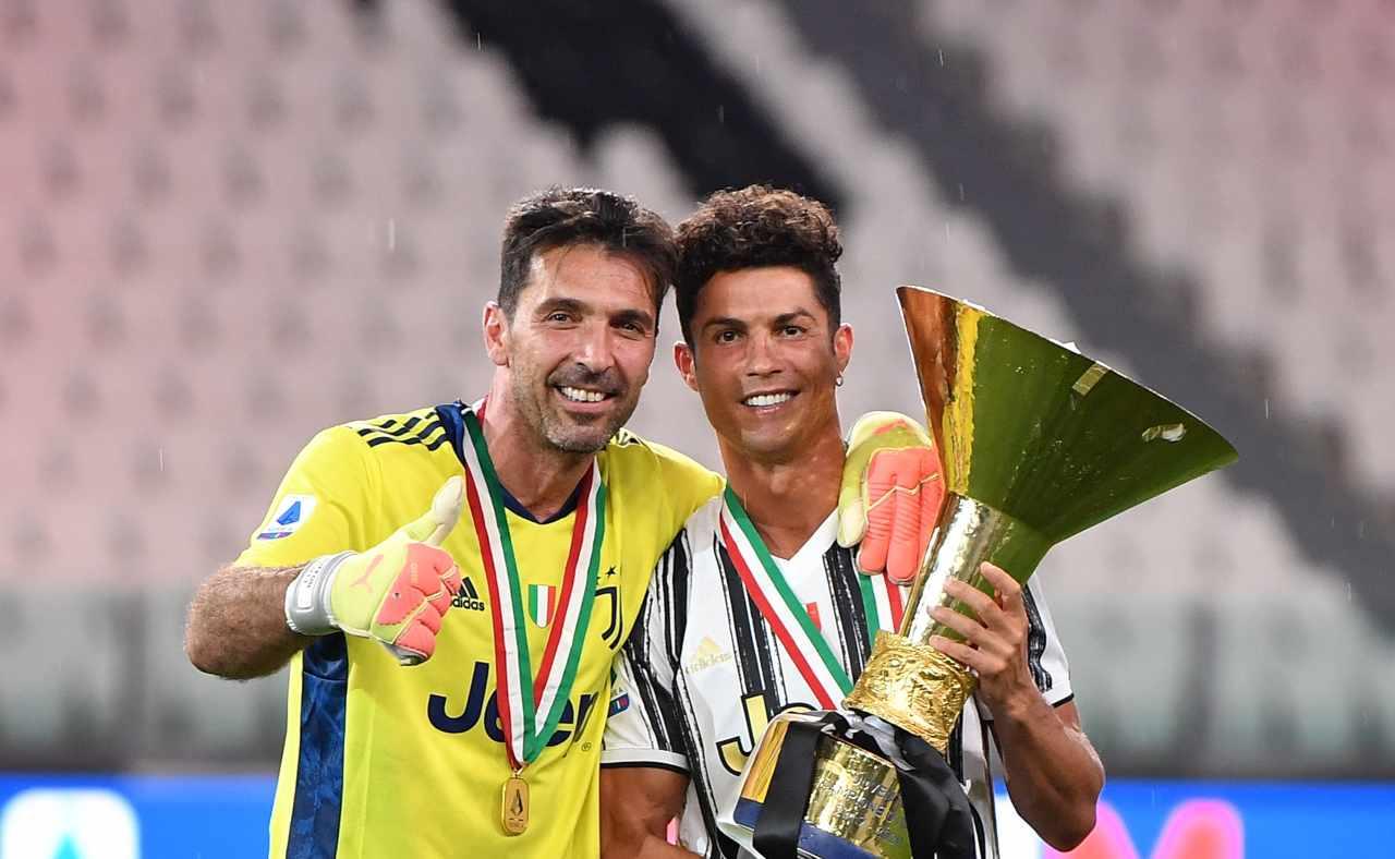 Gig Buffon e Ronaldo