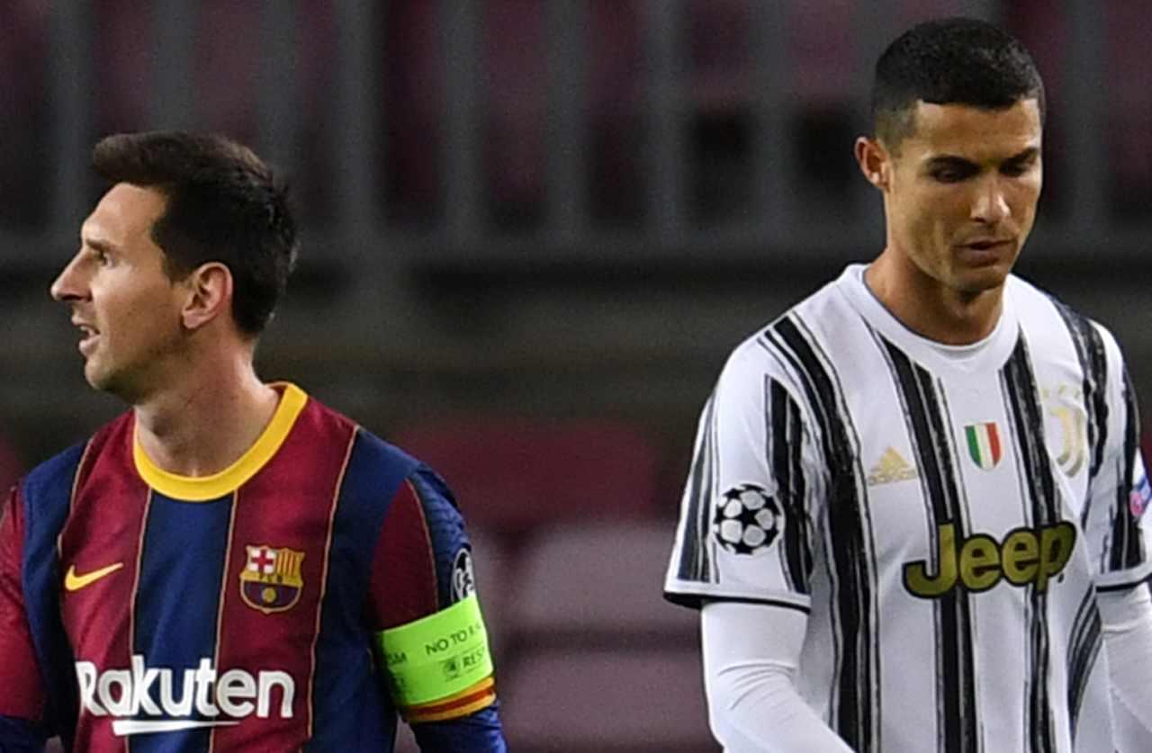 Calciomercato Ronaldo e Messi PSG