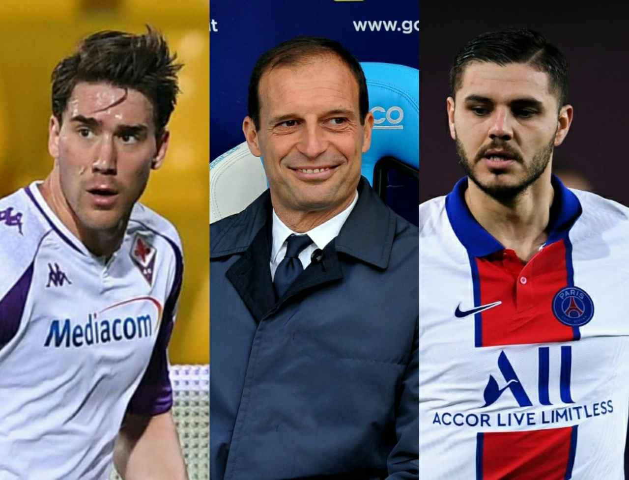 Calciomercato Juventus Vlahovic Icardi