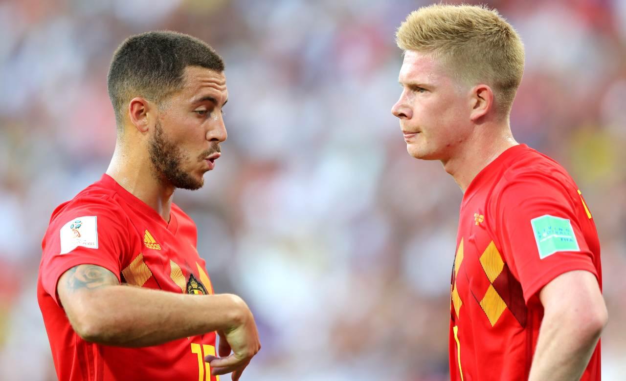 Infortunio De Bruyne Hazard Belgio