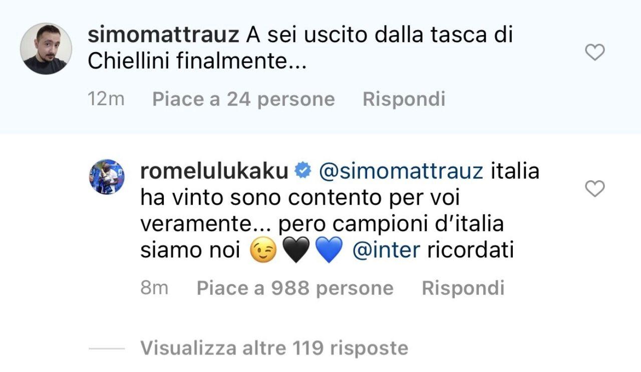 Inter Lukaku Chiellini Juventus