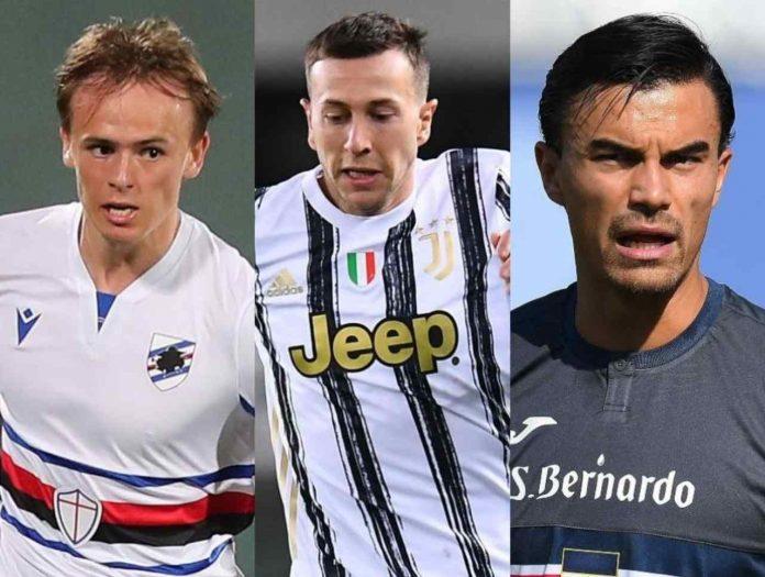 calciomercato juventus Damsgaard bernardeschi sampdoria