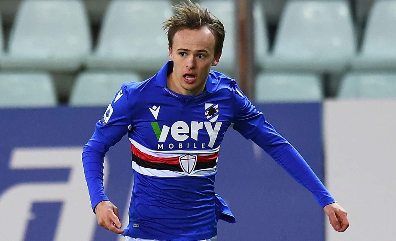 Calciomercato Sampdoria Damsgaard