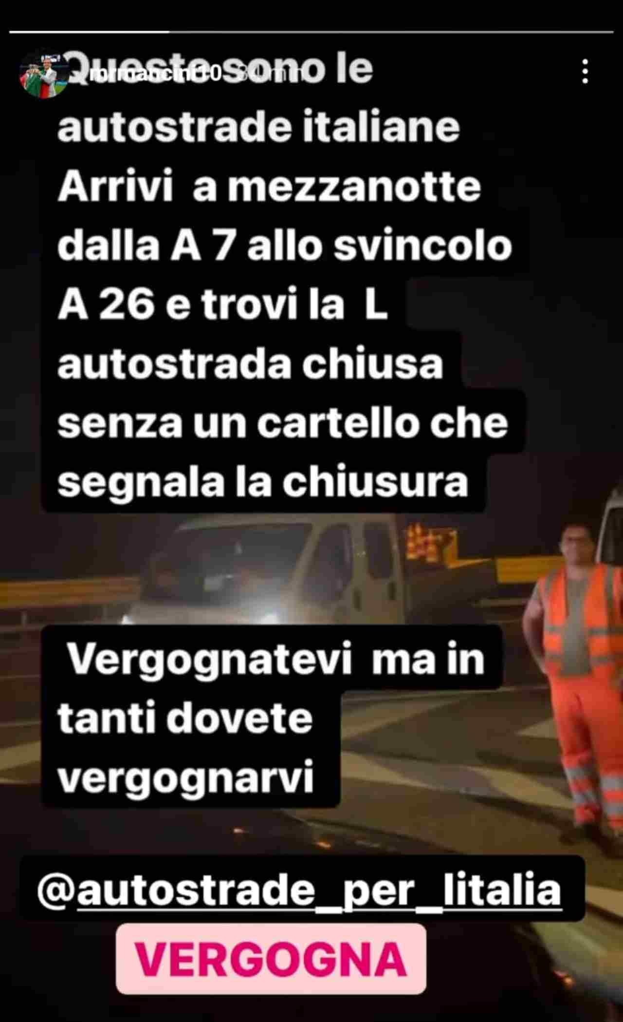 Italia Mancini autostrada