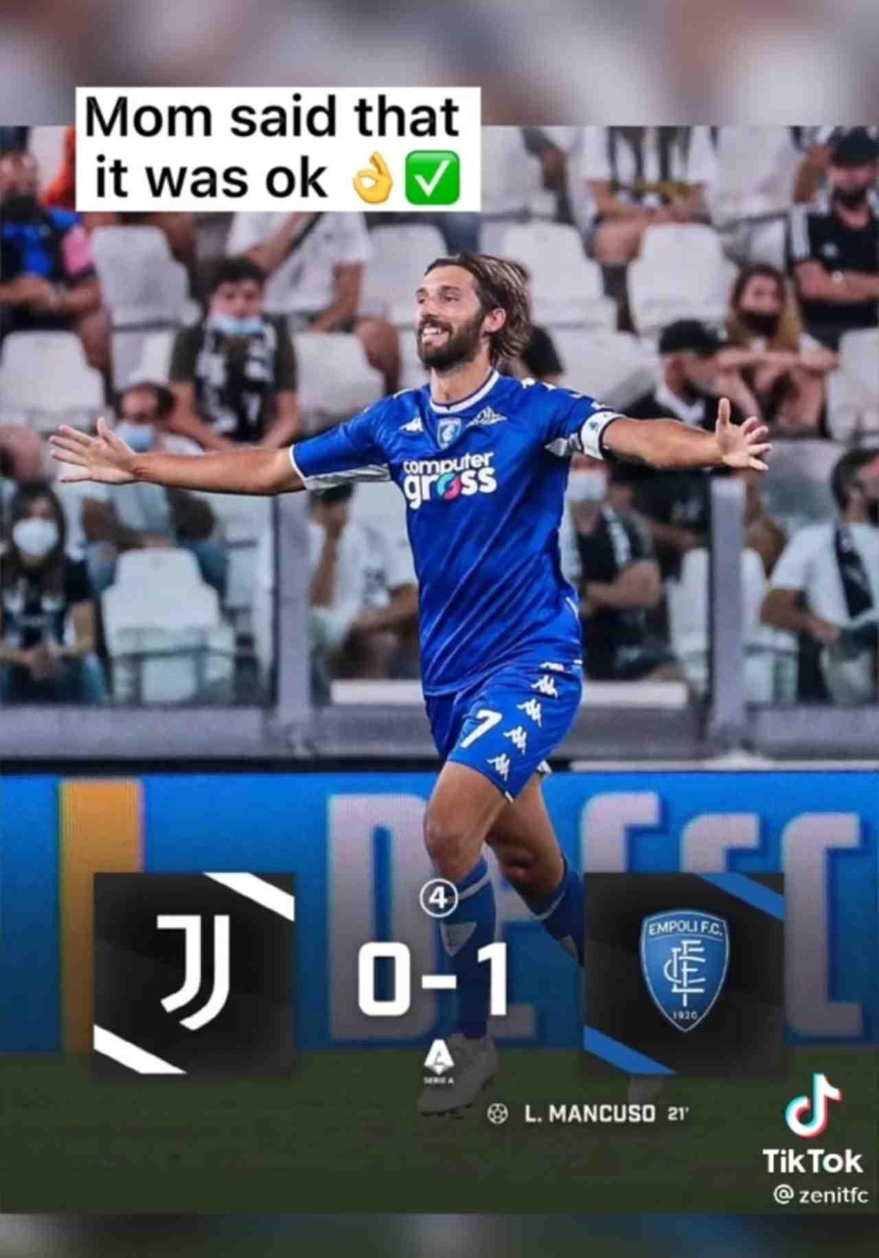 Mancuso TikTok Juventus